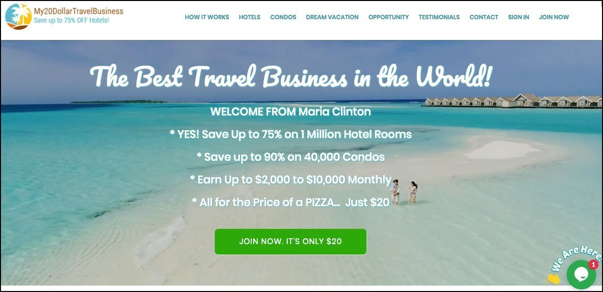 My 20 Dollar Travel Business Review Scam Or Legit