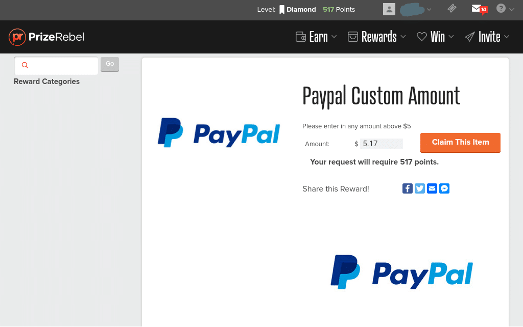 PayPal Custom Amount