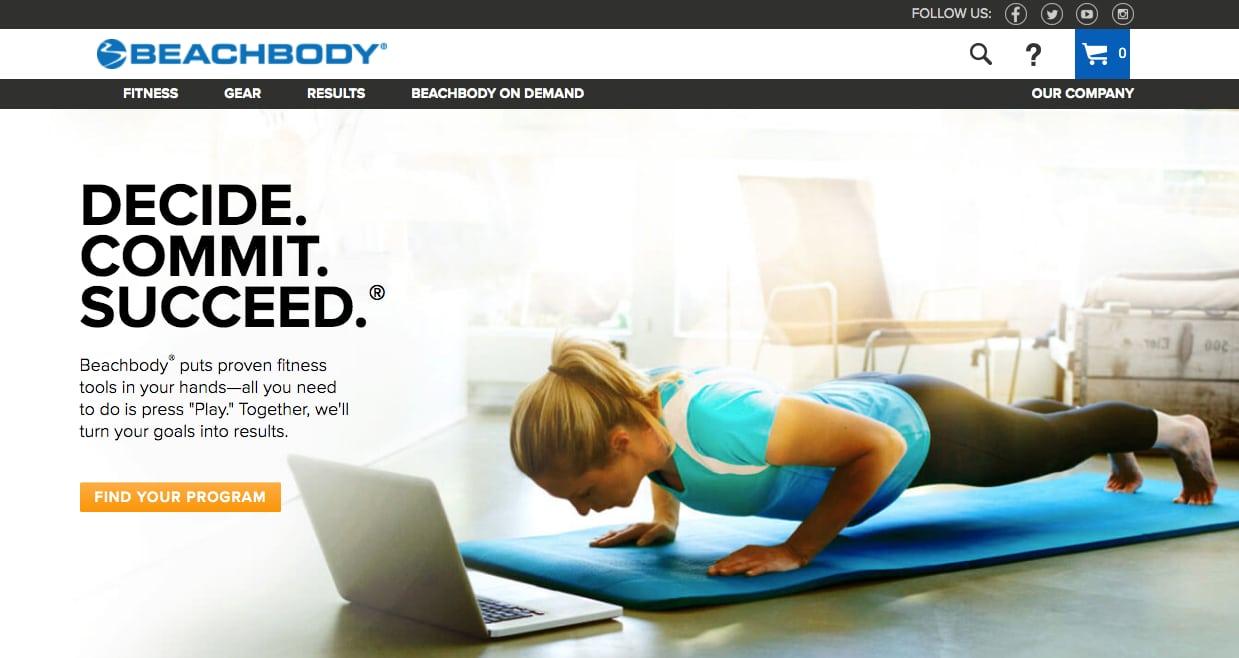 beachbody-website